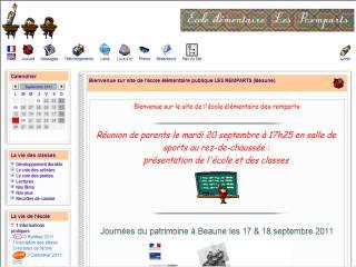 Capture d'écran CalScol A3