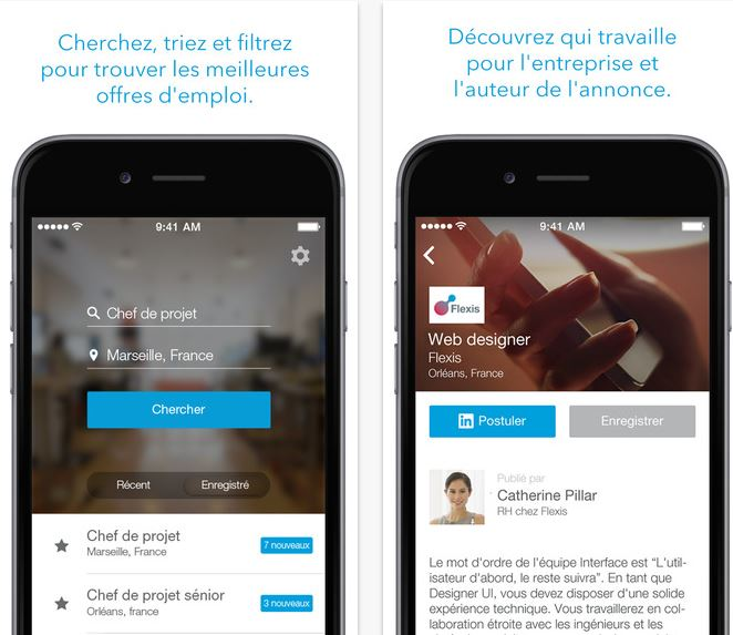 Capture d'écran LinkedIn Job Search Android