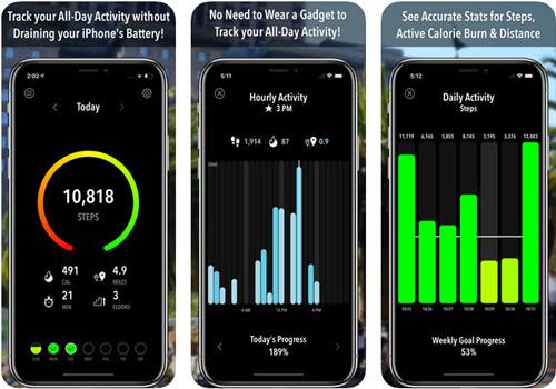 Capture d'écran ActivityTracker Pedometer iOS