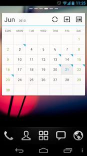 Capture d'écran (français) Calendar GOwidget