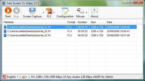 Capture d'écran Free Screen To Video