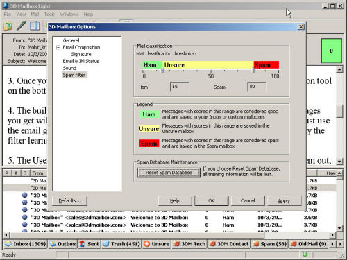 Capture d'écran 3D Mailbox LIGHT