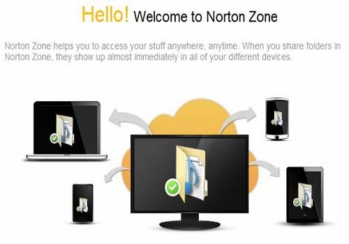 Capture d'écran Norton Zone