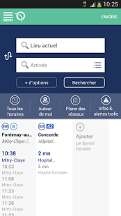 Capture d'écran RATP