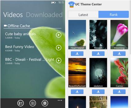 Capture d'écran UC Browser Windows Phone