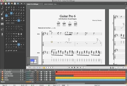 Capture d'écran Guitar Pro 6 Trial Version Linux
