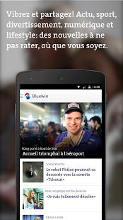 Capture d'écran Bluewin app