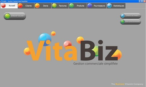 Capture d'écran VitaBiz