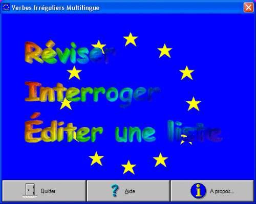 Capture d'écran Verbes Irréguliers Multilingues