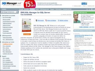 Capture d'écran EMS SQL Manager™ for SQL Server