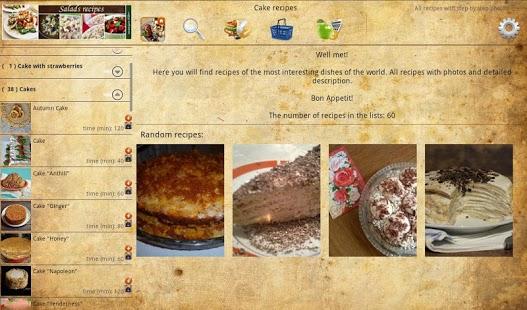 Capture d'écran Cake recipes