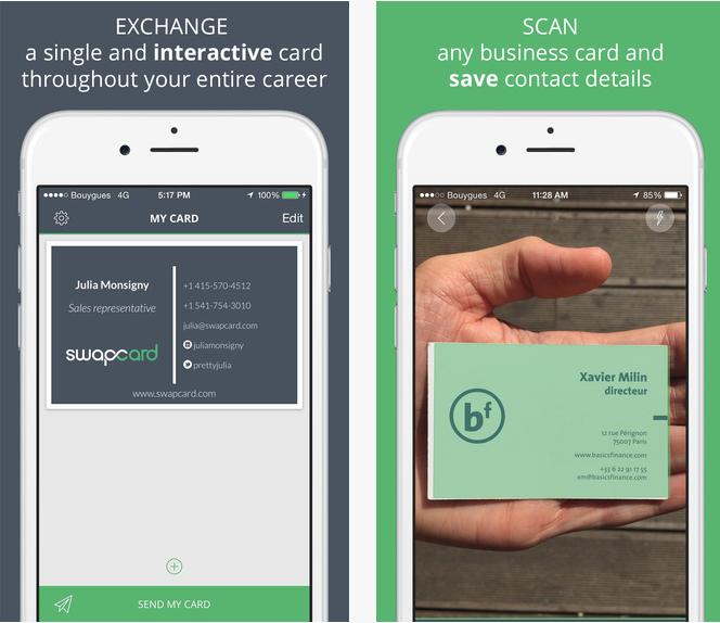 Capture d'écran Swapcard – iOS
