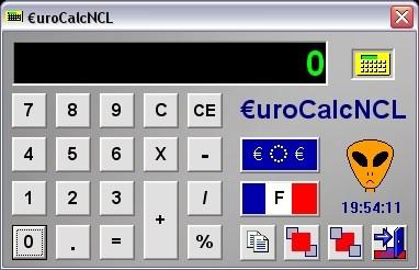 Capture d'écran EuroCalcNCL