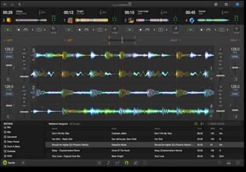 Capture d'écran djay Pro Mac