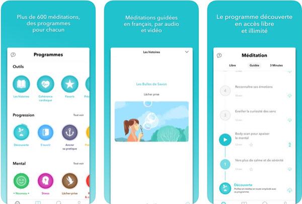 Capture d'écran Méditer avec Petit BamBou iOS
