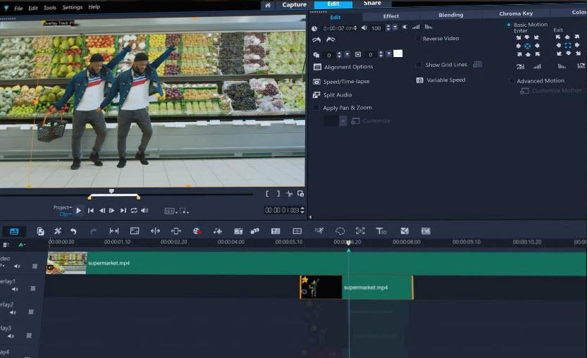 Capture d'écran Corel VideoStudio Pro 2021