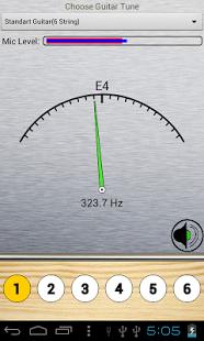 Capture d'écran Guitar Tuner complet