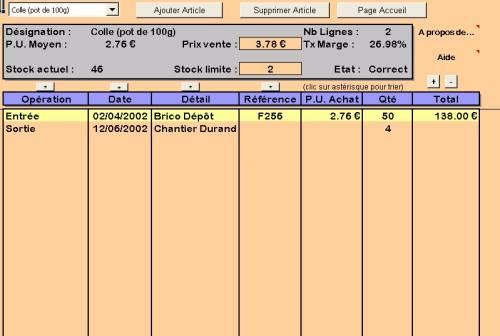 Capture d'écran StockJMB