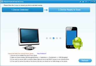 Capture d'écran iPubsoft Android Data Recovery
