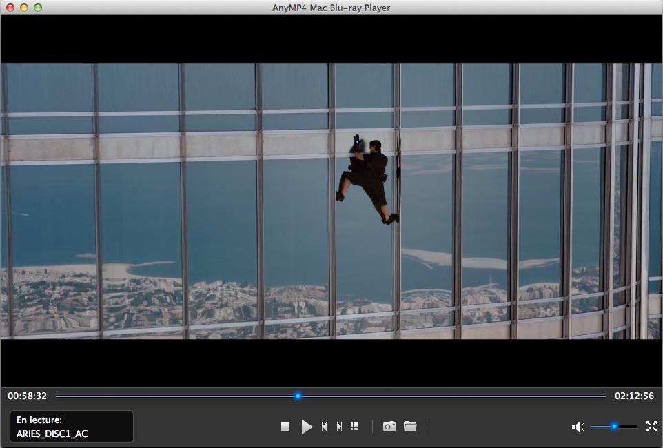 Capture d'écran AnyMP4 Mac Blu-ray Player