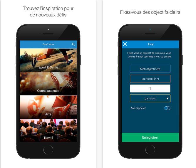 Capture d'écran Goalmap iOS