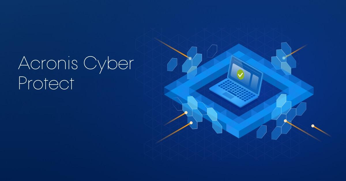 Capture d'écran Acronis Cyber Protect Cloud