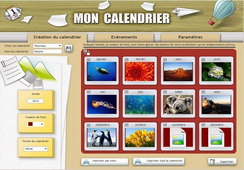Capture d'écran POINKA Calendrier