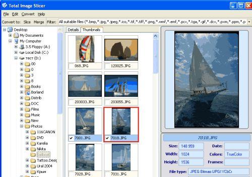 Capture d'écran Total Image Slicer