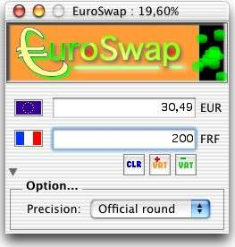 Capture d'écran EuroSwap