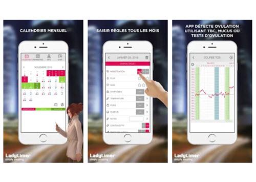 Capture d'écran Calendrier d'ovulation et règles Ladytimer iOS