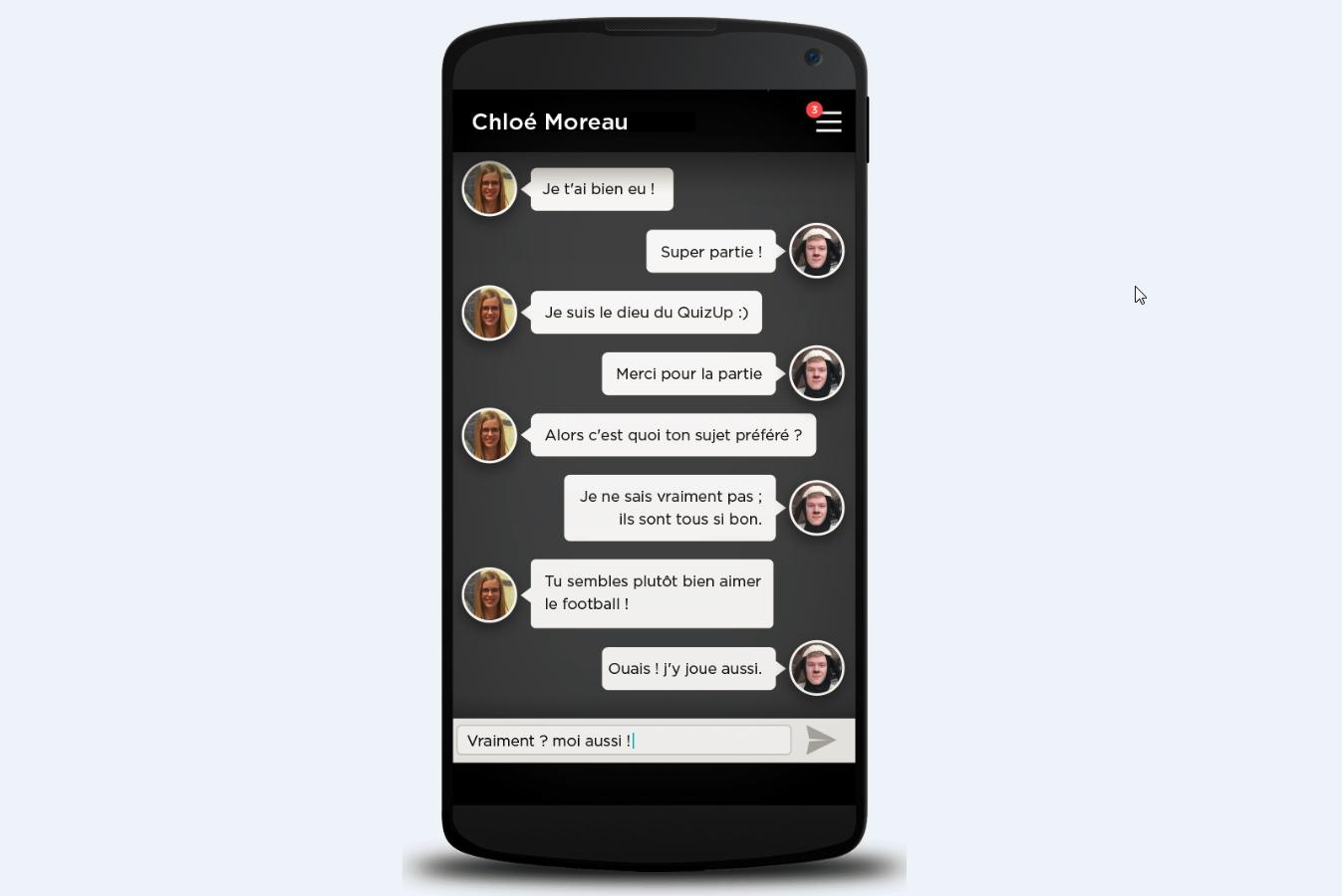 Capture d'écran QuizUp Android