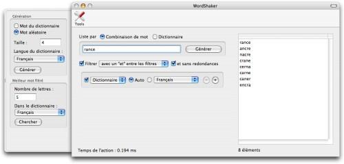 Capture d'écran WordShaker