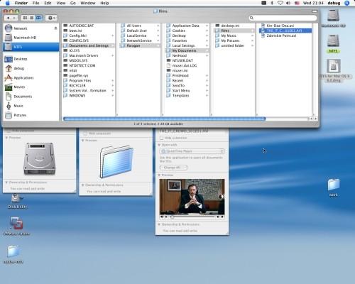 Capture d'écran Pqrqgon NTFS for Mac OS X