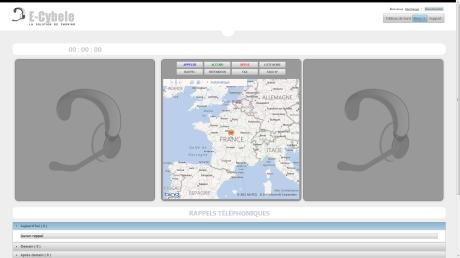Capture d'écran Logiciel de phoning en ligne : E-Cybele