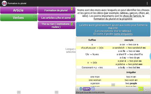 Capture d'écran Apprendre grammaire anglaise