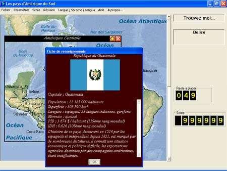 Capture d'écran Les pays d'Amérique du Sud