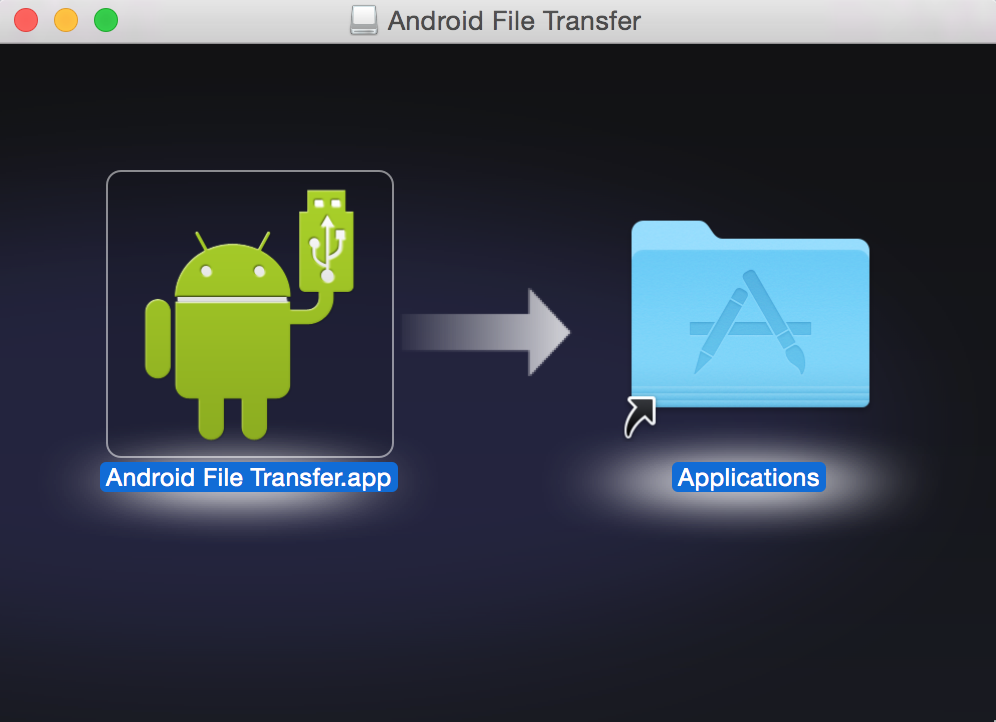 Capture d'écran Android File Transfer
