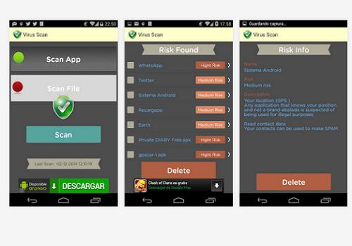 Capture d'écran Virus Scan Android