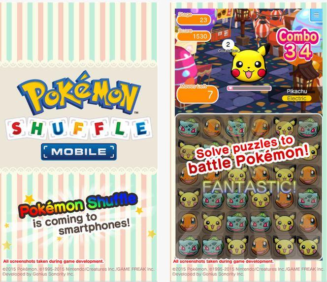 Capture d'écran Pokémon Shuffle iOS