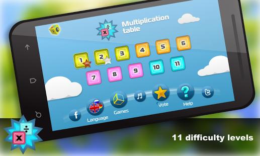 Capture d'écran Calcul mental. Multiplication