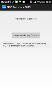 Capture d'écran NFC Automatic SMS