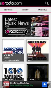 Capture d'écran Radio.com
