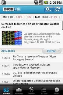 Capture d'écran Boursier.com