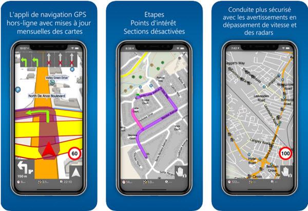 Capture d'écran MapFactor GPS iOS