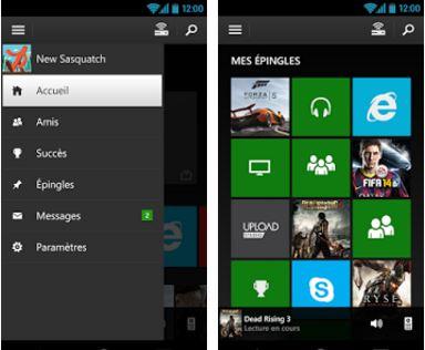 Capture d'écran Xbox One Smart Glass iOS