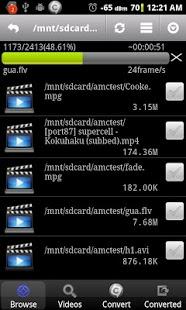 Capture d'écran Android Video Converter