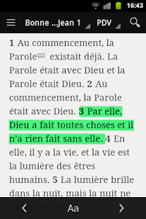 Capture d'écran Bible