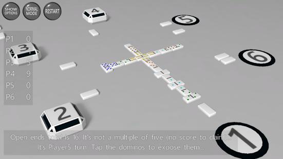 Capture d'écran 3D Dominoes
