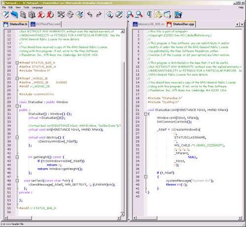 Capture d'écran Notepad++