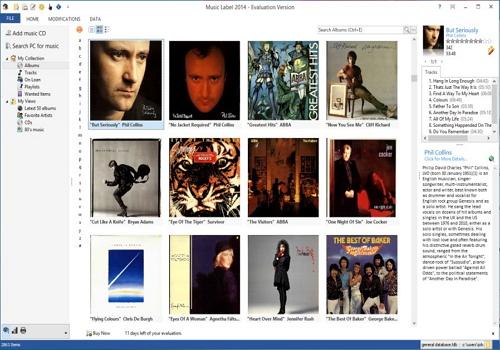 Capture d'écran Music Label